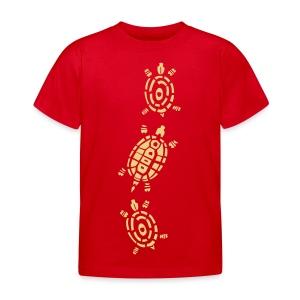 Stein Schere Papier - Schildkröte - Kinder T-Shirt