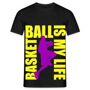 T shirt homme basketball is my life - T-shirt Homme