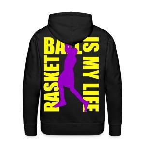 Sweat à capuche homme basketball is my life - Sweat-shirt à capuche Premium pour hommes
