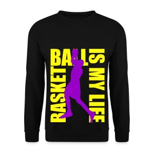 Pull homme basketball is my life - Sweat-shirt Homme