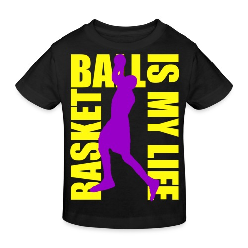 T shirt enfant basketball is my life - T-shirt bio Enfant