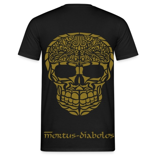 Skull Shirt Boy's Gold-Edition - Männer T-Shirt