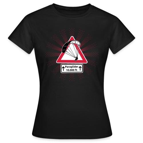 Achtung! Gleitschirmflieger. Frauen T-Shirt - Frauen T-Shirt