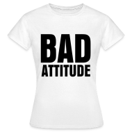 T-Shirts ~ Women's T-Shirt ~ glee born this way bad attitude (F)