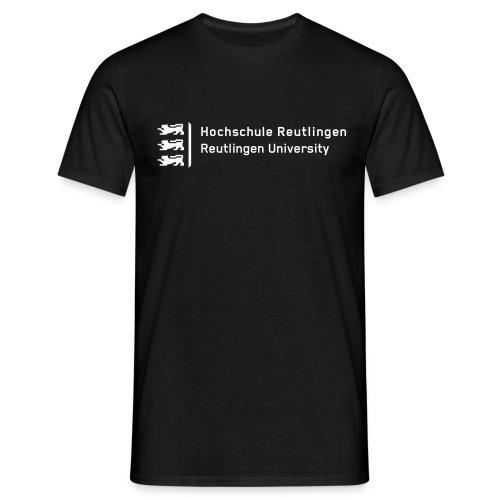Hochschule Reutlingen, T-Shirt Herren, schwarz - Männer T-Shirt