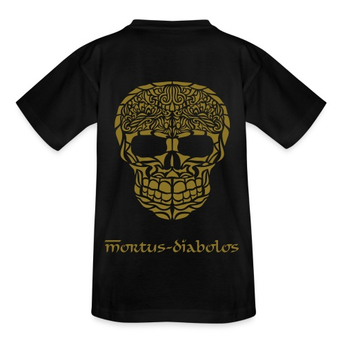 Skull T-Shirt Kid's Gold-Edition - Teenager T-Shirt