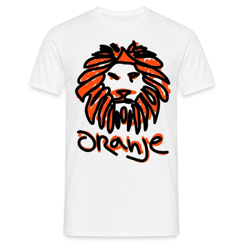 Oranje Leeuw Wit EK 2012 (Mannen) - Mannen T-shirt