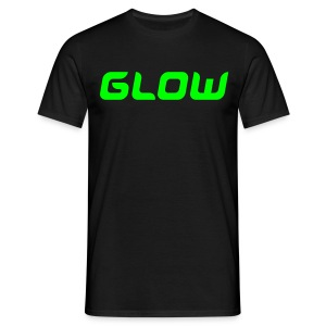 BASIK GLOW - black/green - T-shirt Homme
