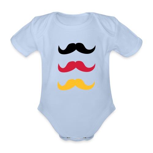 Schnurrbärte für Deutschland - Baby Bio-Kurzarm-Body