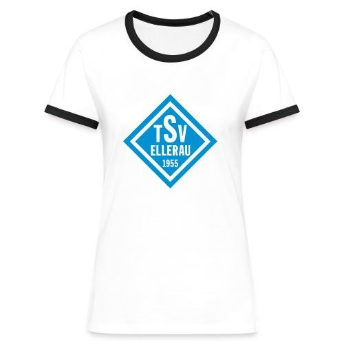 Shirt - Raute vorn - Frauen Kontrast-T-Shirt
