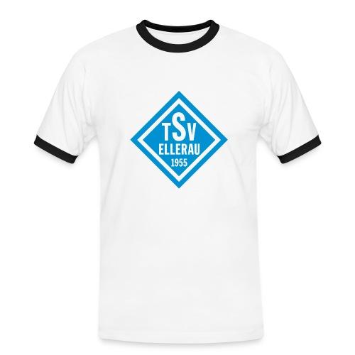 Shirt - Raute vorn - Männer Kontrast-T-Shirt