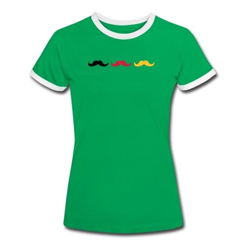 Schurrbärte für Deutschland - Frauen Kontrast-T-Shirt