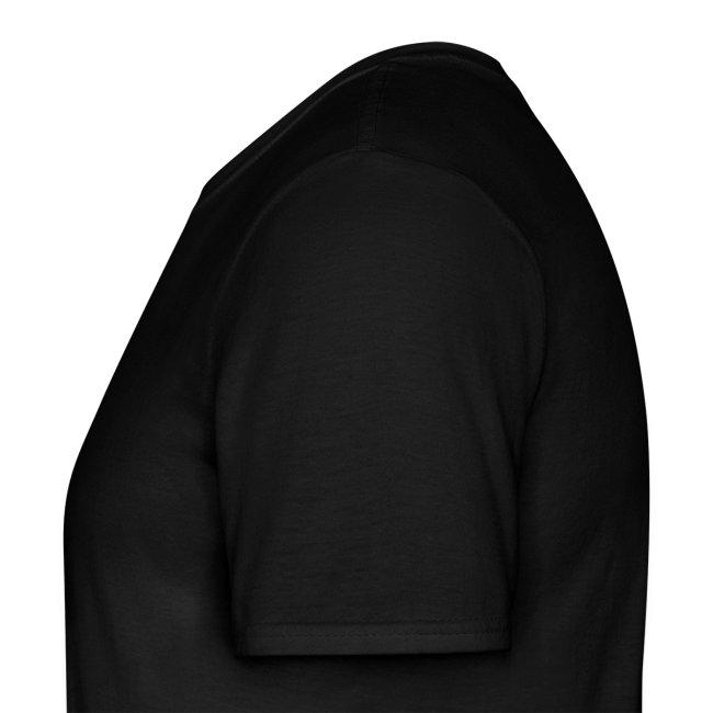 Schriftzug und Rückendruck schwarz