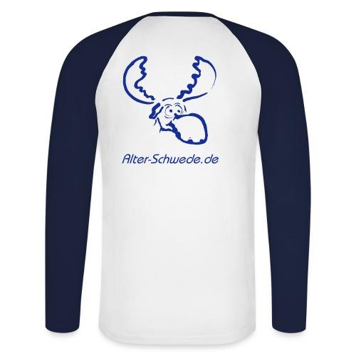 Langarmshirt Darling Blau - Männer Baseballshirt langarm
