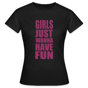 girls fun by BlackWare rot glitzer druck - Frauen T-Shirt