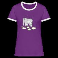 T-Shirts ~ Women's Ringer T-Shirt ~ Elephant