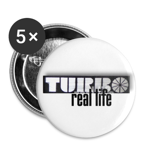Turbo - real life - Buttons mittel 32 mm (5er Pack)