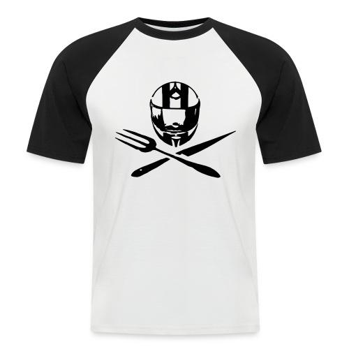 Motociclsiti da Tavola_Jolly Roger - la maglietta baseball a mezza manica - Maglia da baseball a manica corta da uomo