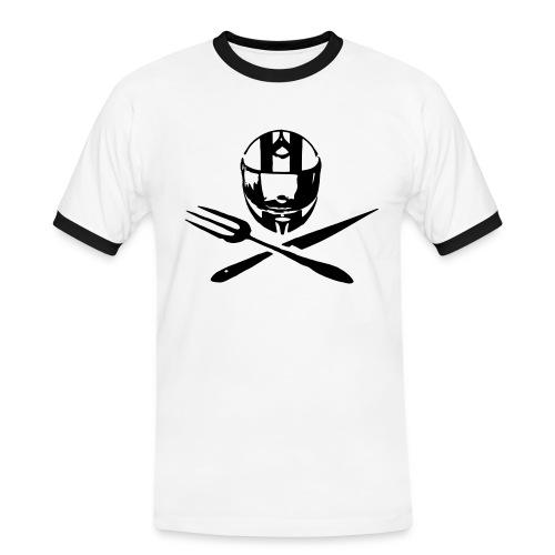 Motociclsiti da Tavola_Jolly Roger - la maglietta ringer a mezza manica - Maglietta Contrast da uomo