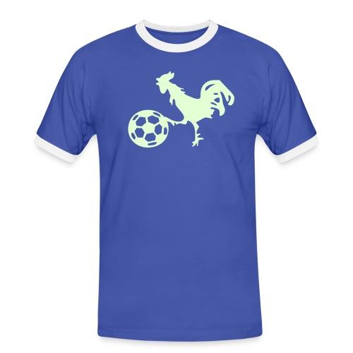 supporter_football_france_coq_gaulois Tee shirts - T-shirt contrasté Homme