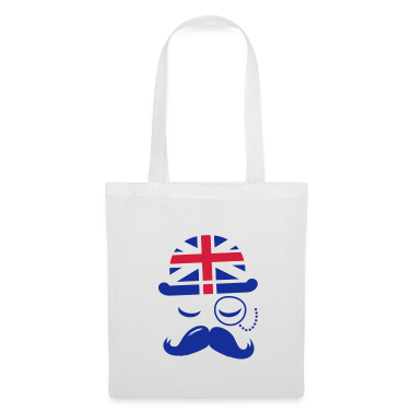Vintage English Gentleman with Moustache Bags