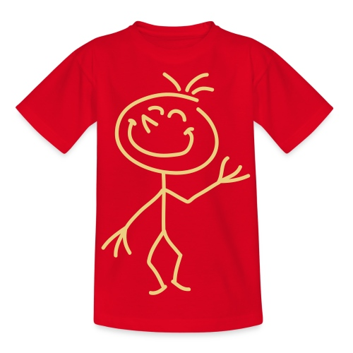 Happy Stick Figure - Teenager - Teenage T-Shirt