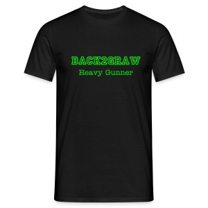 BacK2GraW Heavy Gunner Black Tee Men - Men's T-Shirt