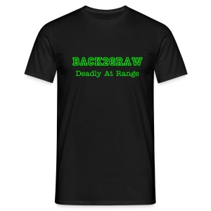 BacK2GraW Deadly At Range Black Tee Men - Men's T-Shirt