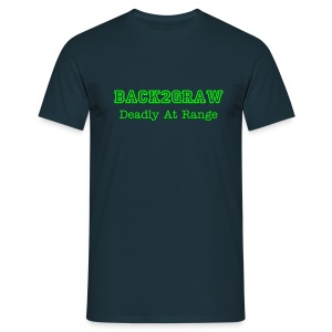 BacK2GraW Deadly At Range and G2TC Black Tee Men - Men's T-Shirt