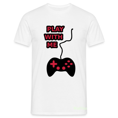 Play With Me | White - Men's T-Shirt