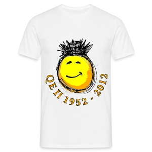 QE II Queenie Jubilee Smiley - Men's T-Shirt