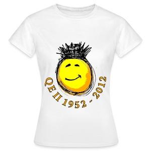 QE II Queenie Jubilee Smiley - Women's T-Shirt