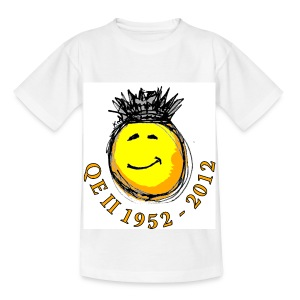 QE II Queenie Jubilee Smiley - Kids' T-Shirt