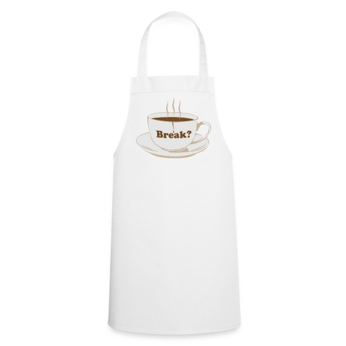 Break on white apron - Cooking Apron