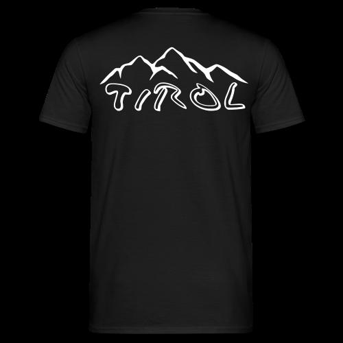 Tirol T-Shirt Schwarz/Weiß - Männer T-Shirt