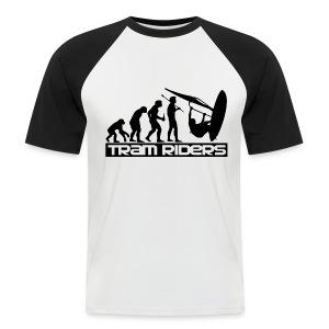 Evolution noir blanc Homme - T-shirt baseball manches courtes Homme