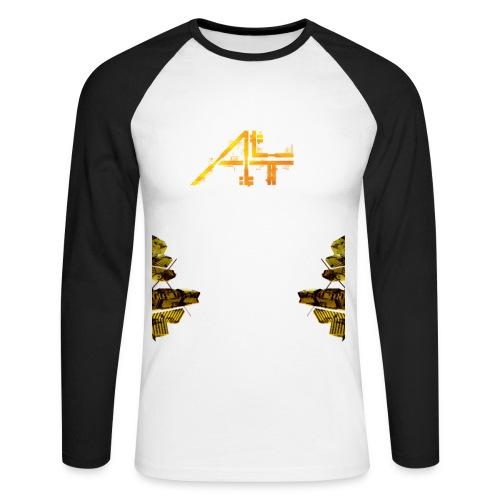 # II - T Shirt Bicolore - Manches Longues - Homme - T-shirt baseball manches longues Homme