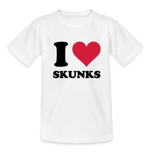 I Heart Skunks - Kids T-Shirt - Kids' T-Shirt