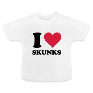 I Heart Skunks - Baby T-Shirt - Baby T-Shirt