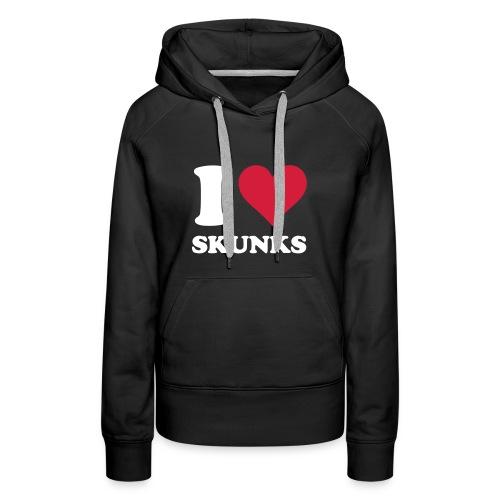 I Heart Skunks Women's Fitted Hoodie - Women's Premium Hoodie