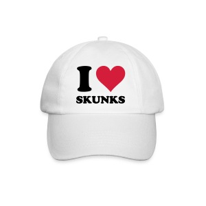 I Heart Skunks Baseball Cap - Baseball Cap