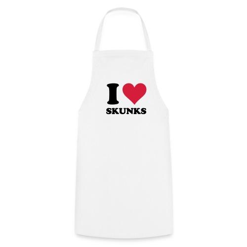 I Heart Skunks Apron - Cooking Apron