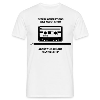 Audio Tape Stift Pencil Relationship T-Shirts