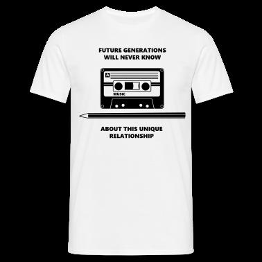 Audio Tape Stift Pencil Relationship T-shirts