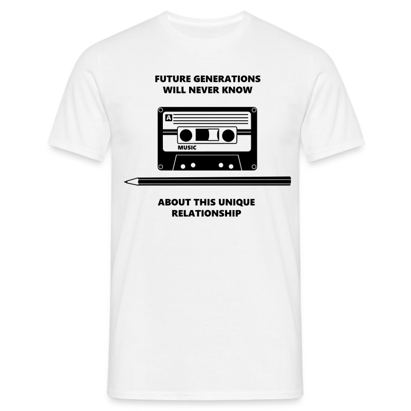 Audio Tape Stift Pencil Relationship T-shirts - Herre-T-shirt