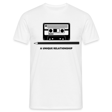 Kassette Stift Tape Pencil Relationship T-Shirts