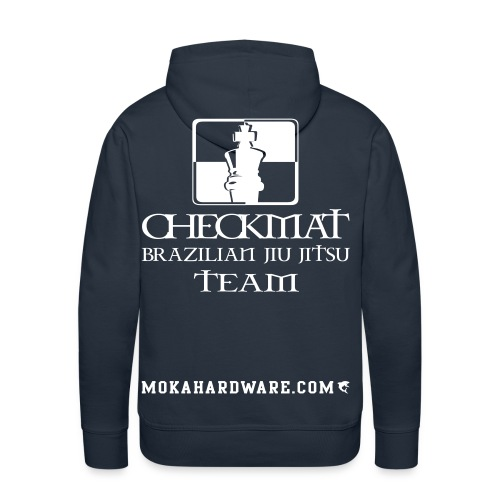 Arte Suave/CheckMat Brazilian Jiu Jitsu Team Navi - Herre Premium hættetrøje