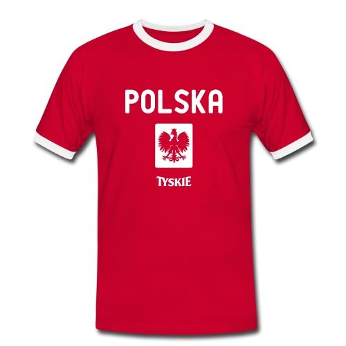 Polska Retro Shirt - Männer Kontrast-T-Shirt