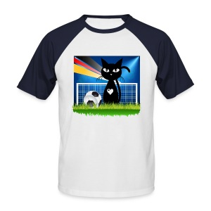 T-shirt soccer cat - Männer Baseball-T-Shirt