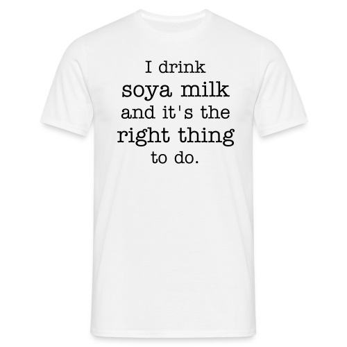 Soy Milk Male - Men's T-Shirt